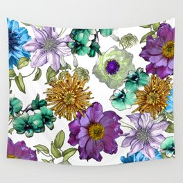Botanical Haze Wall Tapestry