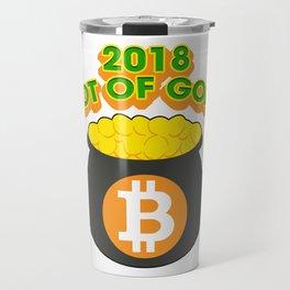 2018 Pot Of Gold Bitcoin St Patricks Day Travel Mug