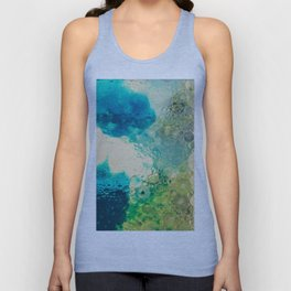 Retro Abstract Photography Underwater Bubble Design Unisex Tank Top