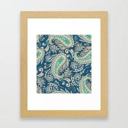 Meredith Paisley - Cerulean Blue Framed Art Print