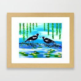 magpies and monet Framed Art Print