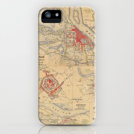 Map Of Hanoi 1895 iPhone Case