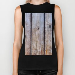 Old Fence Planks With Rust, Wood Decor Biker Tank