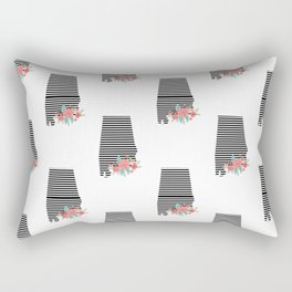 Alabama state silhouette university of alabama crimson tide floral college football gifts Rectangular Pillow