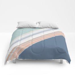 Mint Green Blush Blue Design Comforters