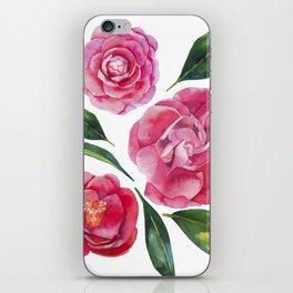 Watercolor camellia iPhone Skin