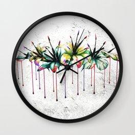 Illusive Lilliums Wall Clock