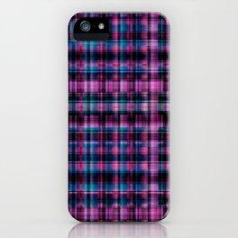 Electric Pink - Purple Plaid iPhone Case