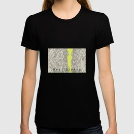 Heartbroken City Alley Anime Style Drawing T-shirt