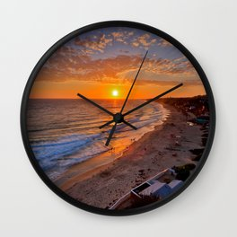 Crystal Cove Sunset   7-11-14 Wall Clock
