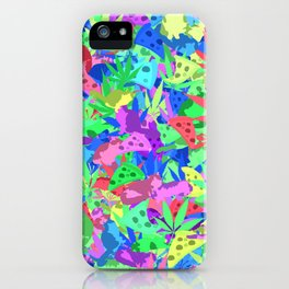 Pizza, weed and lazy cats iPhone Case
