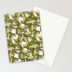 Fresh summer leaves Stationery Cards