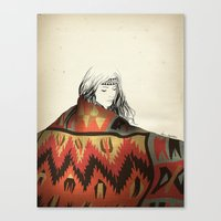 navajo Canvas Prints featuring Navajo by Karen Hofstetter