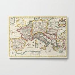 Vintage Map of Europe (1657) Metal Print