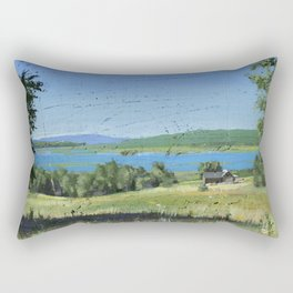 cabin - by phil art guy Rectangular Pillow