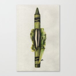 To The Core: Green Canvas Print