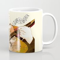 django Mugs featuring Django Reinhardt by Daniella Birtley
