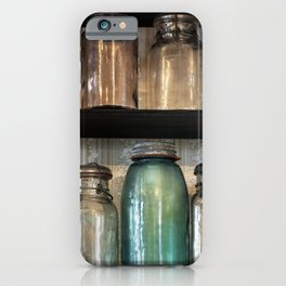 Canning jars in Spindletop-Gladys City Boomtown park Gladys City Texas iPhone Case