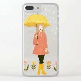 showers & flowers Clear iPhone Case