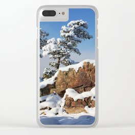 Sentinels in the Snow Clear iPhone Case