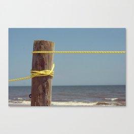 Beach Post Rope Canvas Print