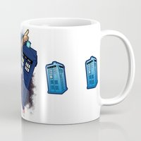 doctor who Mugs featuring Doctor Who by Lucy Fidelis