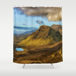 Green Mountain (Color) Shower Curtain