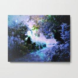 fantasy garden Periwinkle Metal Print