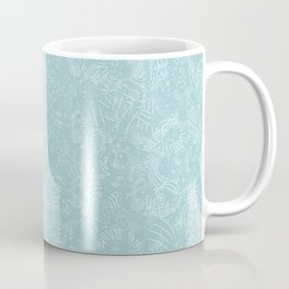 Cave Drawings - Aqua Coffee Mug