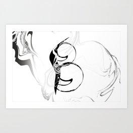 Smoke Letter B Art Print