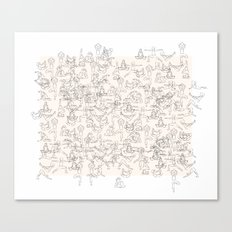 Yoga Manuscript Canvas Print