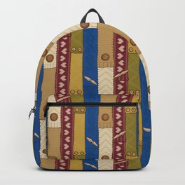 Scarves Knitted Buttoned Backpack