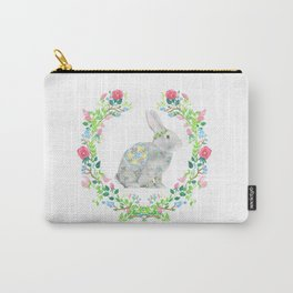 Bunny and wreath Carry-All Pouch