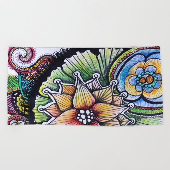 Floralita Beach Towel
