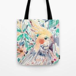 CHEEKY the Cockatiel Tote Bag
