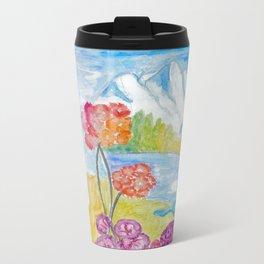 Water Color, She is Metal Travel Mug