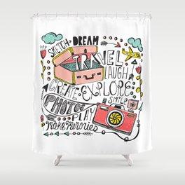 Travel Create Explore Shower Curtain