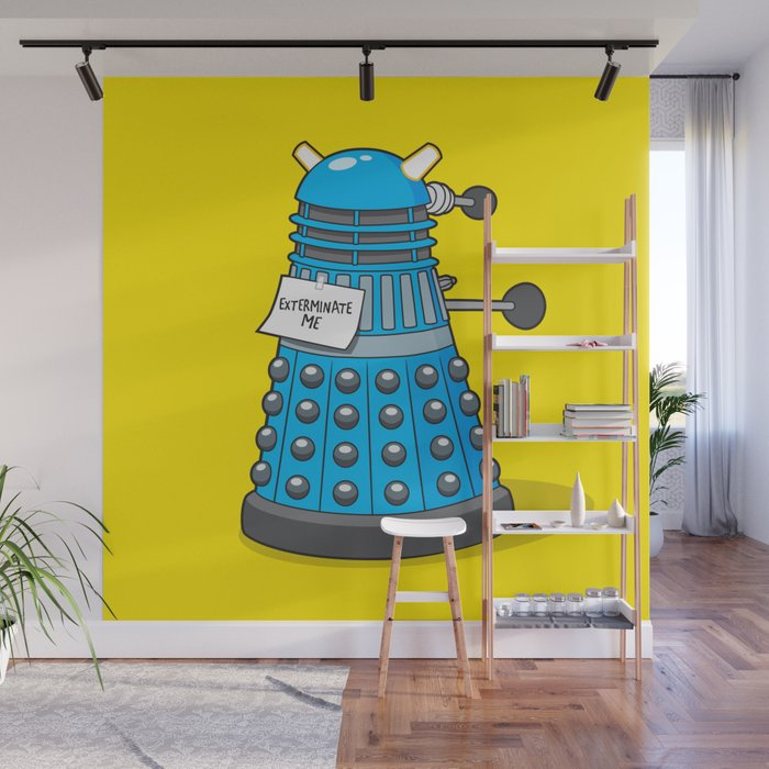 Exterminate Me Variant Dr Who Wall Mural by seemikedraw Society6
