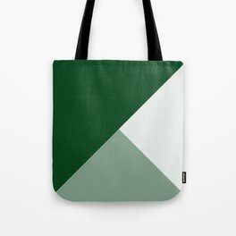 Trinity Color Block Forest Green 08441C Tote Bag