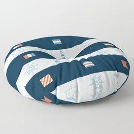 Nautical Theme Design Floor Pillow