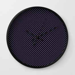 Black and Imperial Palace Polka Dots Wall Clock