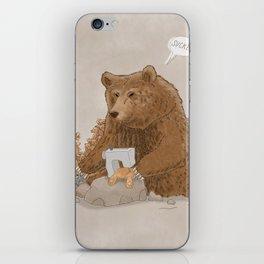 The teddy bear myth: busted iPhone Skin