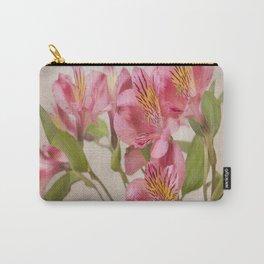 Pink Peruvian Lilies Alstroemeria Carry-All Pouch