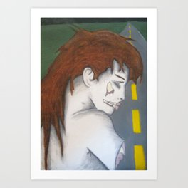 the turned close up Art Print