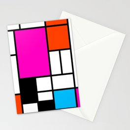 Mondrian Pink Stationery Cards