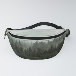 Beautiful foggy forest in the heart of Czech republic Fanny Pack