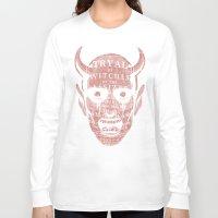 satan Long Sleeve T-shirts featuring Satan by Gurven