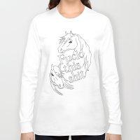 pony Long Sleeve T-shirts featuring … says pony by Annan Åkerman