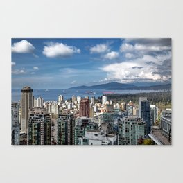 Aerial view at Downtown Vancouver Canvas Print