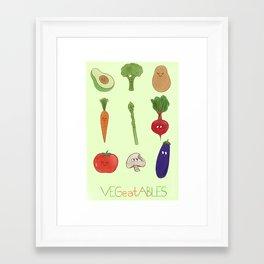 VEGeatABLES Framed Art Print